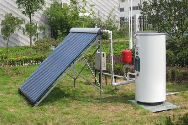 Split_Pressurized_Solar_Water_Heater_Heat_pipe_solar_collector